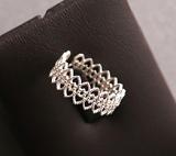 Spek Membuka Jepang Dan Korea Selatan Berongga Renda Cincin 925 Sterling Silver Tiongkok