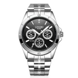 Spesifikasi Pria Analog Jam Tangan Kasual Fashion Stainless Steel Jam Quartz Internasional Baru