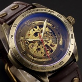 Beli Men Automatic Mechanical Skeleton Bronze Leather Band Analog Wrist Business Sport Watch Pmw368 Jam Tangan Pria Kulit Intl Pake Kartu Kredit