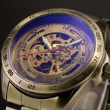 Toko Jual Men Automatic Mechanical Skeleton Bronze Stainless Steel Analog Wrist Bisnis Sport Watch Pmw369 Jam Tangan Pria Intl
