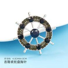 Review Toko Men Brooch Korean Style Romantic Party Rudder Brooch Corsage Navy Wind Man S Suit Intl Online