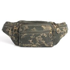 Toko Pria Canvas Army Camo Pack Pocket Pouch Purse Belt Camping Pinggang Tas Tentara Hijau Online Terpercaya