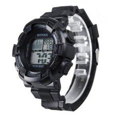 Cuci Gudang Pria Lcd Digital Stopwatch Tanggal Karet Sport Wrist Watch Hitam Intl