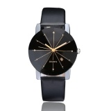 Promo Men Luxury Stainless Steel Quartz Date Sport Leather Band Dial Wrist Watch Black Intl Murah