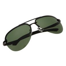 Harga Men Polarized Metal Frame Round Casual Outdoor Sunglasses Black Dark Green Dan Spesifikasinya