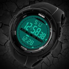 Diskon Besarskmei Jam Tangan Pria Sport Watch Digital Watch Waterproof 50M 1025 Black