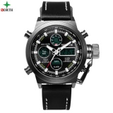 Spesifikasi Pria Sport Watch Jam Tangan Es Led Digital Jam Tangan Analog Jam Tangan Es 2017 Multifungsi 30 M Tahan Air Fashion Casual Nylon Quartz Sport Watch Jam Tangan Pria 6022 Murah Berkualitas