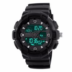 Jual Skmei Jam Tangan Pria Sports Digital Watches Dual Time Display Chronograph Wristwatches 1189 Black Branded Murah