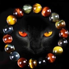 Jual Pria Women Jaringan Gelang Tiger Eye Batu Gelang Bangles 14Mm Intl Oem Original