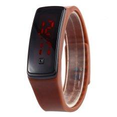 Harga Men Women Led Digital Bracelet Watch Sport Wristwatch Coffee Intl Tc Not Specified Online