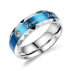 Promo Pria Zircon Cincin Kekasih Biru Intl Zuncle Terbaru