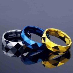 Pria Cadangan Batubara Berbentuk Berlian Cool Cincin Bagus Sebagai Hadiah Fashion Perhiasan untuk Pria (Emas) -Intl