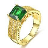 Review Pria Fashion Jewelry 18 K Kuning Emas Disepuh Emerald Cz Kawin Cincin U S Ukuran 8 15 Intl Tiongkok