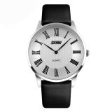 Spesifikasi Pria Pasangan Fashion Jam Tangan Kulit Putih 9092 Intl Terbaru