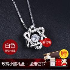 Kalung Perak S925 Liontin Pemukulan Jantung Swan