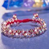 Beli Mengkilap Perempuan Mutiara Keberuntungan Natal Tali Merah Diy Gelang Oem Online