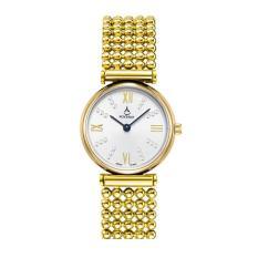 Mengyanni Baru Ladies Watch Fashion Wanita Slim Pearl Series Waterproof Ultra-tipis Watch Gift Leather Watch Strap Watch (whiteGold)