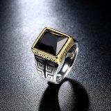 Beli Pria 18 K Emas Berlapis Titanium Steel Black Zircon Vintage Fashion Ring Intl Oem Murah