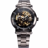 Jual Pria Klasik Skeleton Gunmetal Stainless Steel Automatic Mechanical Sport Watch Pmw210 Jam Tangan Pria Intl Branded