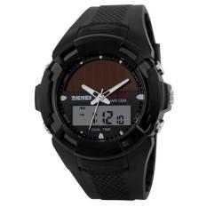 Mens Digital Pria Tenaga Surya Dual Time Sports Digital WatchMenMilitary Watches (Hitam) (Tidak Ditentukan) (LUAR NEGERI)-Intl