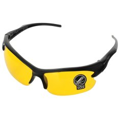 Beli Pengemudi Pria Uv400 Perlindungan Bingkai Plastik Resin Lensa Kacamata Eyewear Hitam Kuning Kredit