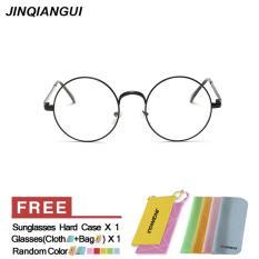 Review Pria Eyewear Fashion Vintage Retro Kacamata Brightblack Bingkai Kacamata Polos Untuk Miopia Pria Kacamata Optik Kacamata Oculos Femininos Gafas Intl