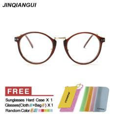 Spesifikasi Pria Eyewear Fashion Vintage Retro Kacamata Brown Frame Kacamata Polos Untuk Miopia Pria Kacamata Optik Kacamata Oculos Femininos Gafas Intl Paling Bagus