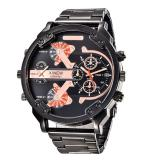 Jual Men S Fashion Luxury Watch Stainless Steel Sport Analog Quartz Mens Wristwatchblack Intl