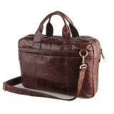 Beli Mens Genuine High Grade Oil Wax Leather Messenger Bag Briefcase Business Hand Bag 14 Inch Laptop Bag Single Inclined Shoulder Bag Coffee Color 7092 2 Intl Secara Angsuran