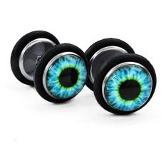 Jual Men S Jewelry Blue Eyes Stud Earrings Surgical Steel Anting Pria Wanita Anti Karat Hitam Men S Jewelry Online
