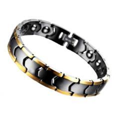 Harga Men S Jewelry Premium Black Gold Ceramic Magnetic Health Bracelet Gelang Kesehatan Pria Xs S M L Original