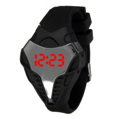 Mens LED Cobra Dial Olahraga Multi-fungsi Silicone Digital Wrist Watch Alarm Hitam-Intl