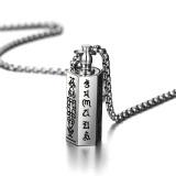 Spesifikasi Mens Necklaces Pendants Dengan Kata Kata Enam Mantra Doa Stainless Steel Kalung Bisa Dibuka Link Chain Internasional Baru