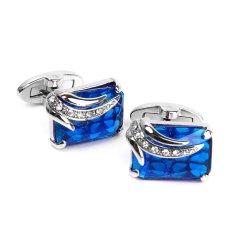 Toko Pria Rectangle Blue Crystal Manset Kemeja Manset Link Wedding Party Groom Gift Intl Bolehdeals