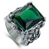 Jual Pria Retro Domineering Precious Stone Rings Hijau Oem Branded