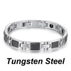 Harga Pria Silver Magnetic Stainless Steel Pelindung Titanium Gelang Internasional Online