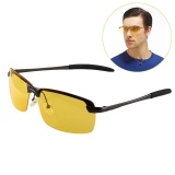 Review Mens Sports Night Driving Anti Glare Glasses Polarized Yellow Driver Sunglass Intl