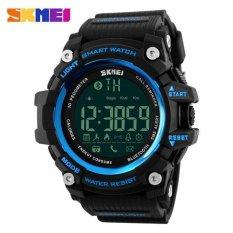 Jual Olahraga Pria Tahan Air Jam Tangan Digital Smart Pedometer Bluetooth Watch Skmei 1227 Biru Hitam Skmei Asli
