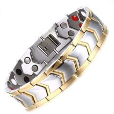 Gelang Terapi Magnetik Warna Emas dan Silver