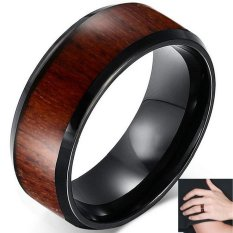 Diskon Produk Mens Tungsten Carbide Kayu Pertunangan Bertakhta Ring Sz 7 12 Intl