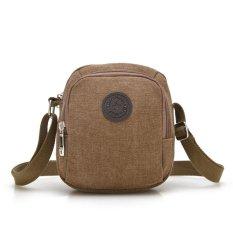 Harga Laki Laki Canvas Vintage Shoulder Bags For Perjalanan Luar Ruangan Olahraga Kopi Seken
