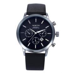 Mens Watches North Brand Luxury Casual Military Quartz Sports Wristwatch Leather Strap Male Clock Watch Relogio Masculino Intl Terbaru