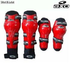 Toko Jual Merah Axo Decker Deker Set Pelindung Lutut Siku Raptor Knee Protector Motor Touring Tour Biker Bike