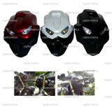 Spesifikasi Merah Headlamp Batok Kedok Streetfighter Monster Street Fighter Topeng Tengkorak Lampu Depan Bohlam Sen Sein New Mega Pro Old Cb150R Old Cb150 Byson Fi Xabre Old Vixion New Megapro Merk Universal