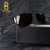 Iklan Bruno Dunn Brand Deisgner Aviator Unisex Retro Aluminum Sun Glasses For Men 8459(Gold Frame Tea Lense) Intl