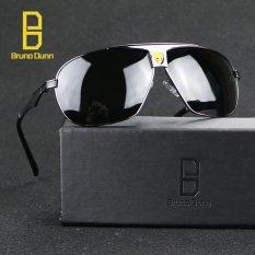 Promo Bruno Dunn Merek Deisgner Aviator Unisex Retro Aluminium Sunglases Pria Terpolarisasi Lensa Vintage Eyewear Aksesoris Sun Glasses Untuk Pria 8853 Silver Frame Abu Abu Lense Intl Murah