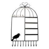 Beli Logam Birdcage Wall Hanger Holder Mount Untuk Perhiasan Kalung Earrings Gelang Intl Murah Tiongkok