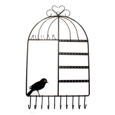 Toko Logam Birdcage Wall Hanger Holder Mount For Perhiasan Kalung Anting Gelang Intl Terlengkap Hong Kong Sar Tiongkok