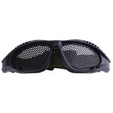 Metal Mesh Taktis Kacamata Mata Perlindungan Shock Resistant Kacamata (Black)-Intl (One