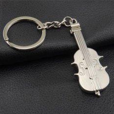 Logam Mini Gantungan Kalung Biola Musik Gitar Tema Gantungan Kunci Gantungan Kunci Liontin Tas Telepon Hadiah